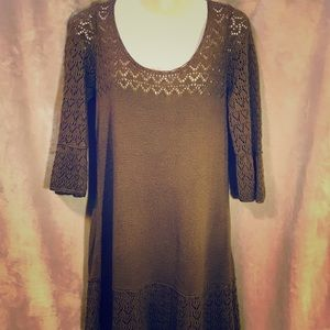 Free People Angel Sleeve Sweater Dress, Large